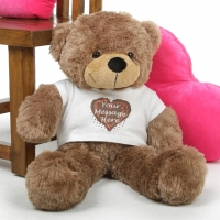 "42"" message bear"