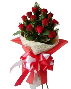 12 Red Roses bouquet ,